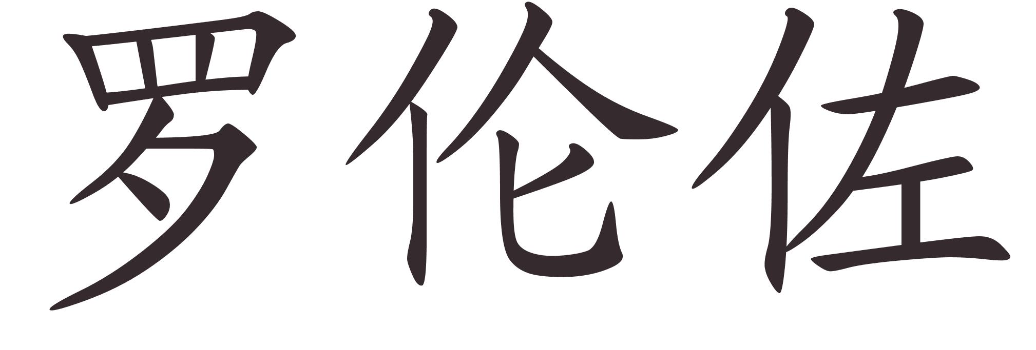 Prenom en ecriture chinoise - Lorenzo prenom ...